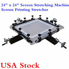 "USA Stock! 24"" x 24"" Manual Screen Stretching Machine Screen Printing Stretcher"