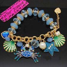 Betsey Johnson Crystal shell crab starfish pearl bracelets