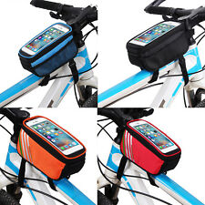 5.7inch Cycling Bicycle Saddle Phone Bag Front Frame Holder Touchscreen Outdoor