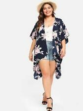 NEW..Gorgeous Plus Size Beautiful Navy Floral Kimino Cardi Cover Up..SZ22-24/3XL