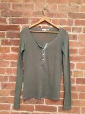 NSF Women's Henley Shirt. SZ- P 100% Cotton Olive Green, USA