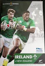 Ireland v New Zealand November 2018 rugby match programme Aviva Stadium Dublin