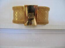 NEW Unworn Vintage Bijoux GIVENCHY 9ct GOLD Plated Designer Bracelet Bangle Box
