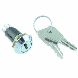 On-On Keylock Key Switch SPDT 1A 125V SRL-5-E-S-2 Lorlin