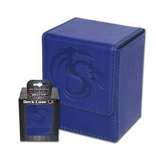 Wholesale Lot of (24) BCW Deck Case LX Blue Leatherette MTG Box Holds 80 Cards