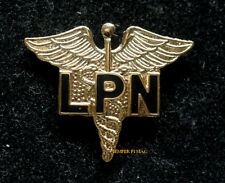 LPN LICENSED PRACTICAL RN NURSE HAT LAPEL PIN UP CADUCEUS US ARMY AIR FORCE GIFT
