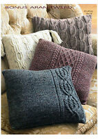 aran cushion covers knitting pattern 99p