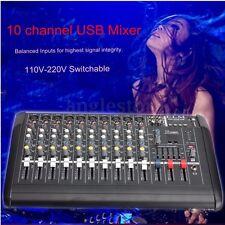 2000 Watt 10 Channel Professional Powered Mixer power mixing Amplifier 16DSP USB