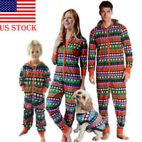 1Pieces Family Matching Women Men Kid Christmas Sleepwear All in One Pyjamas