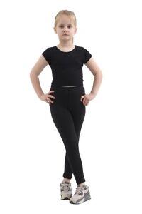 Girls Kids High Waist Yoga Pants Ruched Sports Gym Running Honeycomb Leggings