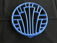 Vintage French blue enameled cast iron trivet