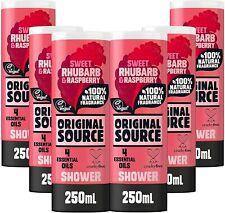 Original Source Rhubarb and Raspberry Shower Gel, Body Wash (6 x 250ml) Vegan