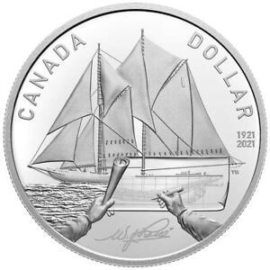 Kanada 1 Dollar 2021 Bluenose - 100. Jubiläum des Großseglers 23,17 gr Silber PP