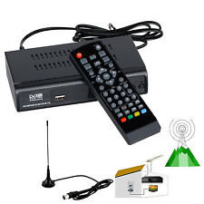 Digital HD DVB-T2 T Terrestrial TV BOX Receiver Convertor + 5dBi Antenna PVR EPG
