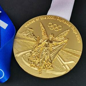HQ 1:1 Replica Japan Tokyo Gold Medal Olympic Game Team World Champions + Ribbon