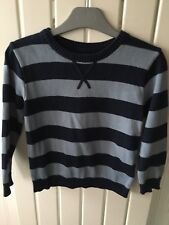 Little Boy's Clothes 4-5 Years - Striped Knitted Jumper By Marks & Spencer's