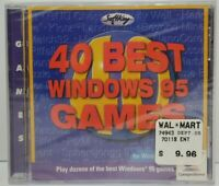 40 Best Windows 95 Games (PC, 1996) Brand New Sealed