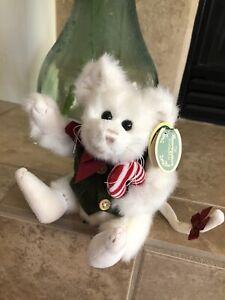 "Bearington Bears DICKORY #1479 Plush 8"" Mouse Green Vest, Candy  Cane NWT🎄🐭"