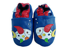 Dotty Fish Baby Boys' Leather Shoes