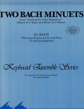 TWO BACH MINUETS Sheet Music Two Pianos Four Hands