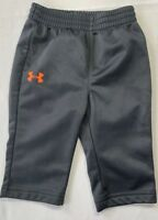 Under Armour Baby Boys 3-6 Months Gray Athletic Track Pants Orange Logo