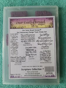 Our Daily Bread Designs 3rd Anniversary Team Stamp Set Scripture Collection 7