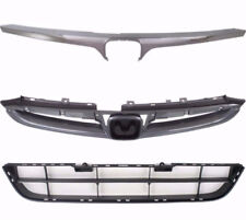 NEW FOR 06-07 ACCORD SEDAN FRONT UPPER & LOWER BUMPER GRILLES WITH CHROME 3 PCS
