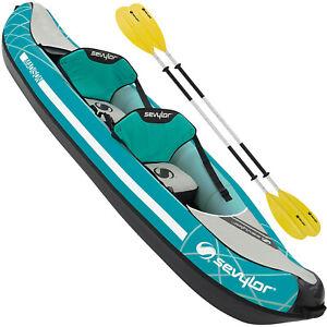 Sevylor Gonflable Madison Kit Kayak 2 Places Kanu Freizeitkajak Tour Set