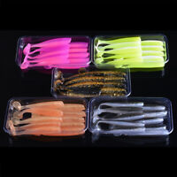 65mm 2.1g Soft Fishing Lures Set T Tail Silicone Baits Easy Shiner Fish Wobbler
