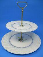 Nikko Fine Tableware Blue Peony Double Tiered Dessert Plate