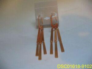 Kendra Scott Drop Dangle Earrings with Pink Gold Copper Look Finish