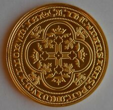 Edward III Double Leopard Hallmarked Gold on Silver Proof coin/medal