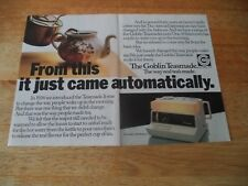 GOBLIN TEASMADE  VINTAGE MAGAZINE ADVERT      8       1    N       O