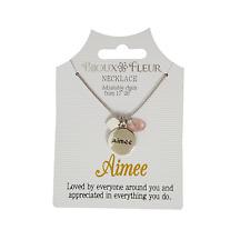 and Initial Letters - A-J Bijoux Fleur Necklace - Names