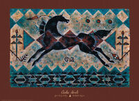 The Lightning Snake Art Print by Cecilia Henle - Horse Native American