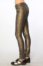 BlankNyC Women Gold Printed Zipper Skinny Classique Pant Jeans $98 NYC5