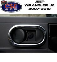 Chrome Door Handle Trim for Jeep Wrangler JK 2007-2010 11156.20 Rugged Ridge