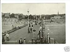 BOURNEMOUTH DORSET UK FROM THE PIER VINTAGE POSTCARD