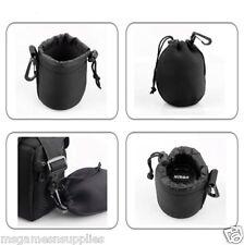 Digital Camera Lens Soft Pouch Bag Size M Neoprene - Nikon Canon Sony Olympus