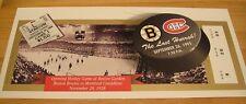 Boston Bruins The Last Hurrah Game Giant Ticket Print vs Montreal 9/26/1995