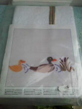 Kit Point Croix Serviette Canard Broderie Couture Duck Towel 30 X 48cm