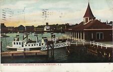 Antique POSTCARD c1906 New Government Landing Station NEWPORT, RI RHODE ISLAND