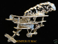 FOKKER DR.1 HAT LAPEL PIN WWI GERMAY RED BARON SPAD GOLD PLATED SNOOPY WING L@@K