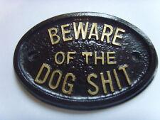 DOG SH*T BEWARE  HOUSE SIGN BUSINESS  GARAGE PLAQUE