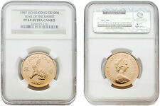 Hong Kong 1987 Year of the Rabbit $1000 Gold Proof Coin NGC PF-69 ULTRA CAMEO
