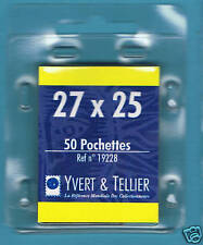 1 Blister 50 Pochettes fond noir double soudure 27x25