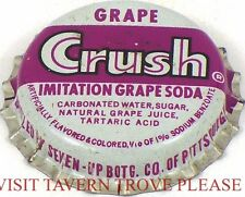 Unused 1950s Grape Crush Soda Cork Crown Pittsburgh Pennsylvania