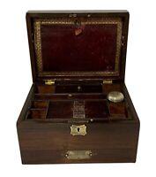 Quality Antique Victorian Rosewood Vanity Trinket Jewellery Box with Mirror