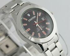 Croton Automatic 21 Twenty One Jewels Stainless Steel Mens Watch 10 ATM WR