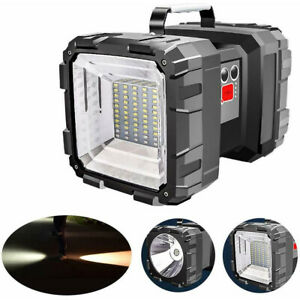 100000mAh LED Handscheinwerfer Wiederaufladbare Akku Taschenlampe für Camping